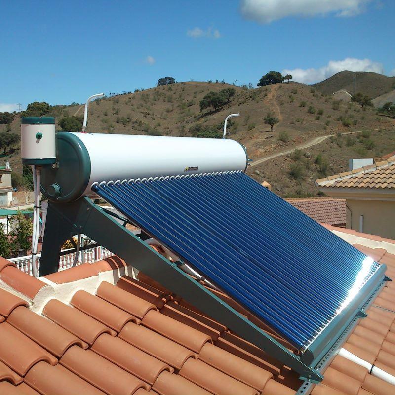 Infografía del funcionamiento de los sistemas solares térmicos